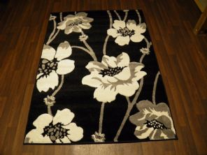 BARGAIN RANGE WOVEN RUGS HAND CARVED APPROX 6X4FT 120X170CM BLACK/WHT GREAT RUGS